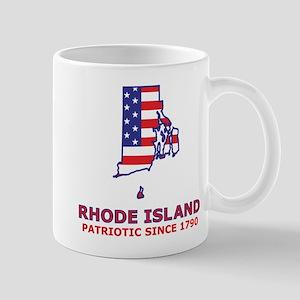 RI USA Flag Map 2 Mug