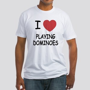 I heart playing dominoes Fitted T-Shirt
