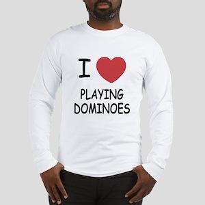 I heart playing dominoes Long Sleeve T-Shirt
