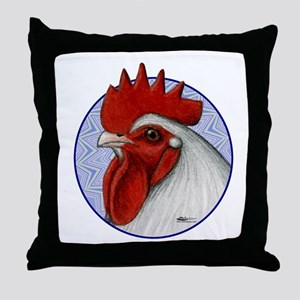 Orpington Rooster Circle Throw Pillow