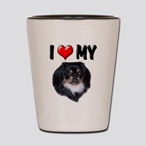 I Love My Pekingese (black) Shot Glass