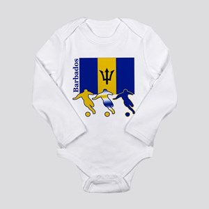Barbados Soccer Long Sleeve Infant Bodysuit