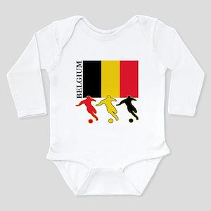 Belgium Soccer Long Sleeve Infant Bodysuit