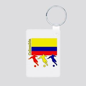 Colombia Soccer Aluminum Photo Keychain