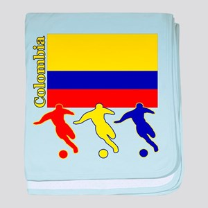 Colombia Soccer baby blanket