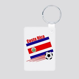 Costa Rica Soccer Team Aluminum Photo Keychain