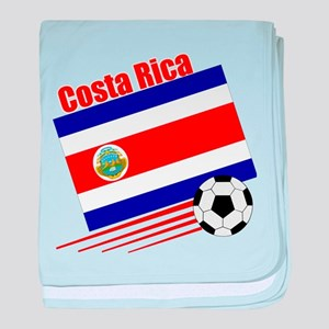 Costa Rica Soccer Team baby blanket