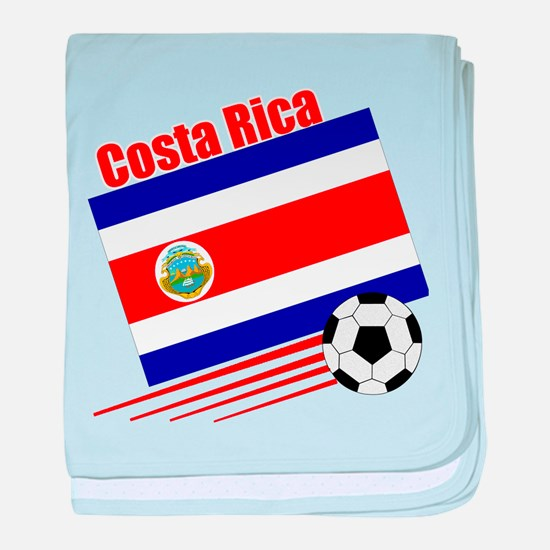 Costa Rica Soccer Team baby blanket