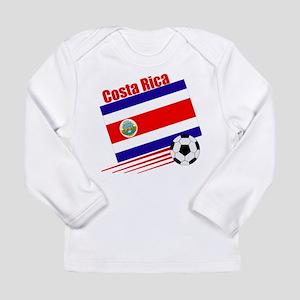 Costa Rica Soccer Team Long Sleeve Infant T-Shirt