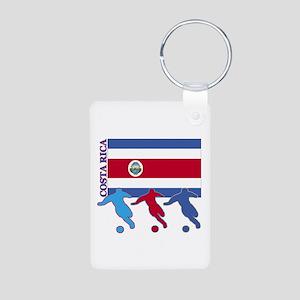 Costa Rica Soccer Aluminum Photo Keychain