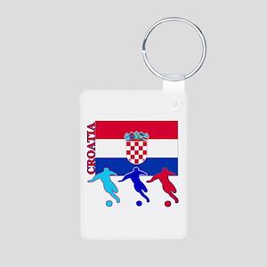Croatia Soccer Aluminum Photo Keychain