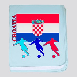 Croatia Soccer baby blanket