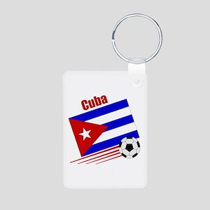 Cuba Soccer Team Aluminum Photo Keychain
