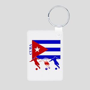 Cuba Soccer Aluminum Photo Keychain