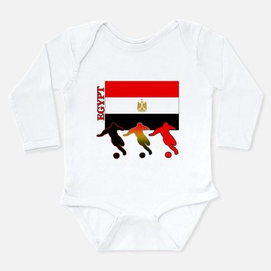 Egypt Soccer Long Sleeve Infant Bodysuit