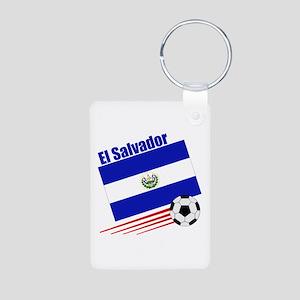 El Salvador Soccer Team Aluminum Photo Keychain