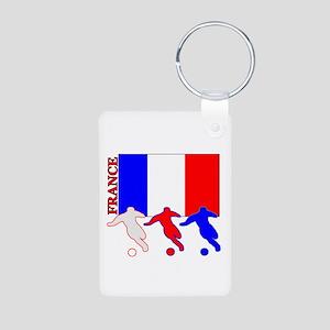 Soccer France Aluminum Photo Keychain