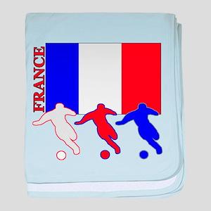 Soccer France baby blanket