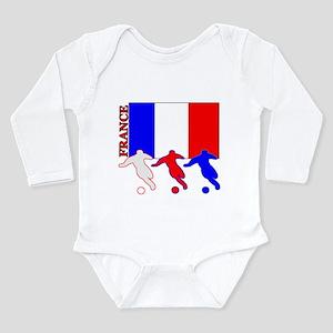 Soccer France Long Sleeve Infant Bodysuit