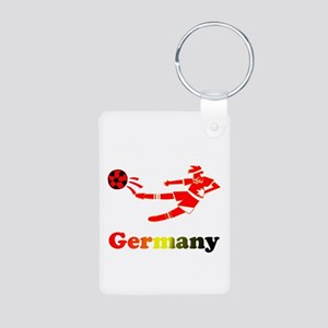 German Soccer Player Aluminum Photo Keychain