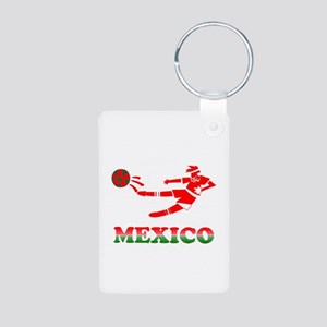 Mexican Soccer Player Aluminum Photo Keychain