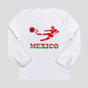 Mexican Soccer Player Long Sleeve Infant T-Shirt