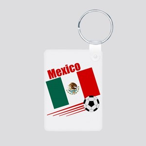 Mexico Soccer Team Aluminum Photo Keychain