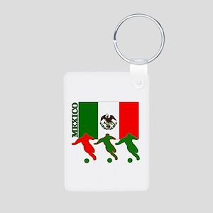 Soccer Mexico Aluminum Photo Keychain