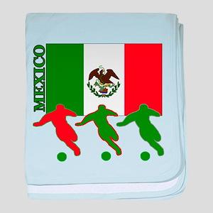 Soccer Mexico baby blanket