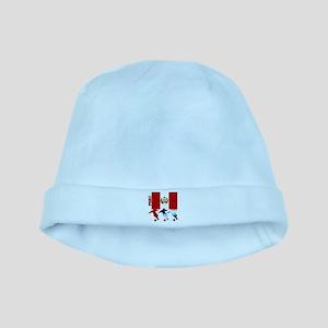 Peru Soccer baby hat