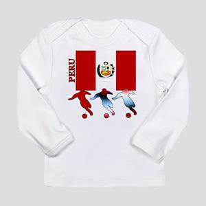 Peru Soccer Long Sleeve Infant T-Shirt