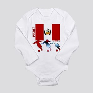 Peru Soccer Long Sleeve Infant Bodysuit