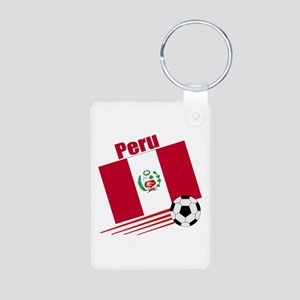 Peru Soccer Team Aluminum Photo Keychain