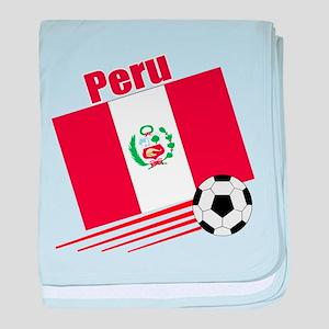 Peru Soccer Team baby blanket