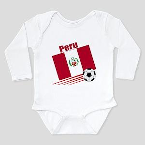 Peru Soccer Team Long Sleeve Infant Bodysuit
