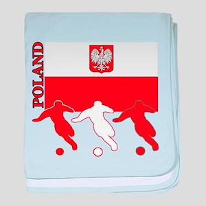 Poland Soccer baby blanket