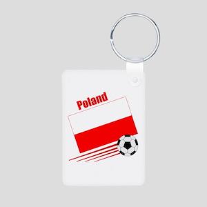 Poland Soccer Team Aluminum Photo Keychain