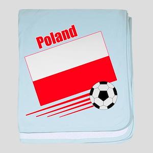 Poland Soccer Team baby blanket