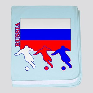 Russia Soccer baby blanket