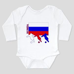 Russia Soccer Long Sleeve Infant Bodysuit