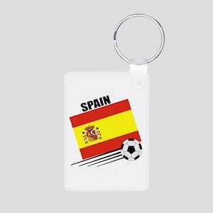 Spain Soccer Team Aluminum Photo Keychain