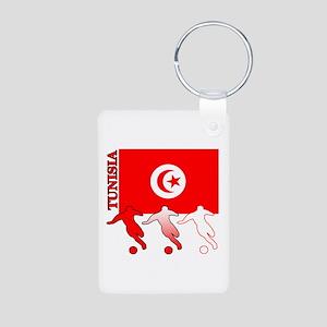 Tunisia Soccer Aluminum Photo Keychain