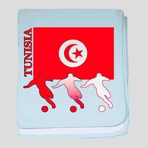 Tunisia Soccer baby blanket