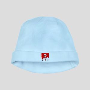 Tunisia Soccer baby hat