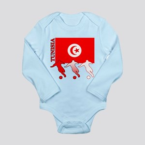 Tunisia Soccer Long Sleeve Infant Bodysuit