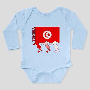 Tunisia Soccer Long Sleeve Infant Bodysuit