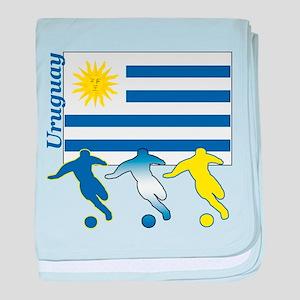 Uruguay Soccer baby blanket