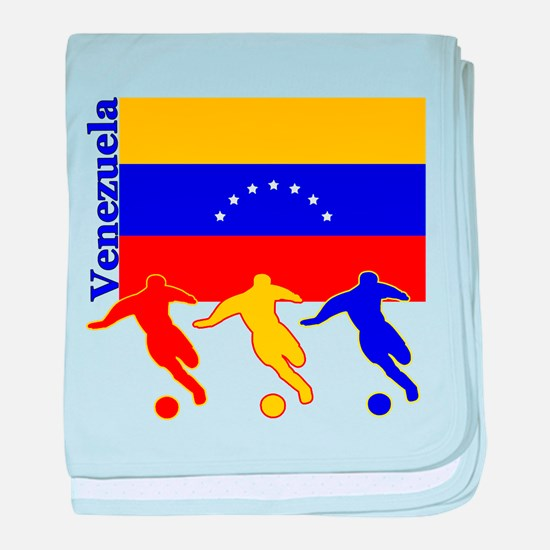 Venezuela Soccer baby blanket