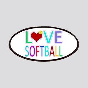 LOVE SOFTBALL Patches
