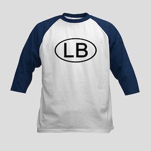 LB - Initial Oval Kids Baseball Jersey
